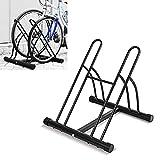 FEMOR Fahrradstnder Bodenparker Fahrradparker fr 2 Fahrrde Mehrfachstnder Twin Bicycle Stand...