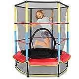 ZHEN Kinder Indoor-Trampolin 55 in, Spaß- und Fitnesstrampolin für Kinder ab 3 Jahren, für die...