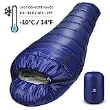 Bessport Schlafsack Winter   -10C Outdoor Mumienschlafsack fr Camping und Bergsteigen mit...