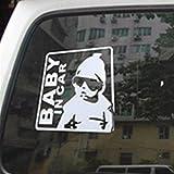 Tuqiang Baby in Car Warnzeichen Autoaufkleber Aufkleber Sticker Silber glnzend fr Auto KFZ Fenster