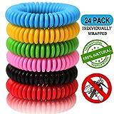 Mückenschutz Armband (24 Stück) ,Moskito Armband,Mückenarmband Armbänder zum Schutz gegen...