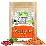 RAIBU® Hagebuttenpulver BIO 1kg + 250g extra I Hagebutten Pulver in geprüfter BIO-Qualität...
