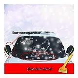 Auto Windschutzscheibe Frost Cover Magnetische Schneedecke Sonnenblende Frostschutz Reflektierendes...