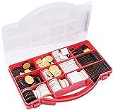 Metafranc Filz-Gleiter-Sortiment 275-teilig-selbstklebend-braun/wei-Effektiver Schutz Ihrer Mbel &...
