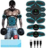 TouchSKY EMS Muskelstimulation Elektrostimulation,ABS Stimulator Bauchtrainer Trainingsgerät, 3 in...