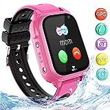 Wasserdichtes GPS Smartwatch für Kinder, Intelligentes Uhrentelefon Kind Geschenk Zwei Wege...