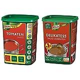 Knorr Tomatensauce (ideale Basis) 1er Pack (1 x 1 kg) & Delikatess Sauce zu Braten (pur als...