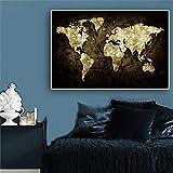 Weltkarte auf Geld Poster Schwarz-Weiß-Plakate und Drucke Leinwand Malerei Kunst Wandbild für...