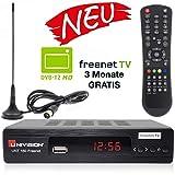 Univision UNT160 digitaler DVB-T2 Receiver mit Antenne inkl. 3 Monate Freenet TV (H.265, HDMI,...