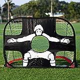 Bogeer Fussballtore für Kinder faltbares Fussball Tor Pop Up Tore für den Garten tragbares 2 in 1...