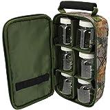 BKL1 Tasche mit Kunststoffgläsern Camo Köderdose Ködersortierung Angeln 2080