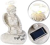 Lunartec Grabschmuck: Schutzengel-Figur mit Solar-LED-Licht, 7 LEDs, 20 cm, IP44 (Engel Solar)