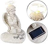 Lunartec Grablicht: Schutzengel-Figur mit Solar-LED-Licht, 7 LEDs, 20 cm, IP44 (Grabengel)