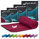 Fit-Flip Microfaser Handtücher Set – 15 Farben, 6 Größen – Ultra leicht & kompakt – das...