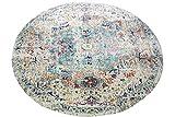 CARPETIA Teppich Outdoor Orientteppich Ornamente Wohnzimmerteppich Vintage in grau blau Größe 160...
