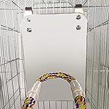 WNSC Sicherheit und langlebiger Bird Cotton Rope Stand, Standspielzeug Set Rustproof Biting Rope...