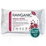 RAWGANIC® Bio Reinigungstücher für das Gesicht, vegan, mit Aloe Vera & Grünem Tee, parfümfrei...