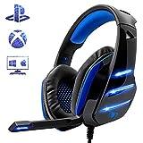 Beexcellent Gaming Headset fr PS4, Surround Bass Sound Professional Kopfhrer mit Mikrofon LED Licht...
