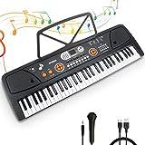 RenFox Keyboard, Digital Piano Mit 61 Tasten, Digital Keyboard, Tragbare Elektronische...