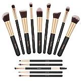 Pinselset, Yuwaku Make Up Pinsel Set 14 teilig Premium Synthetic Kabuki Eyeliner Lidschatten...