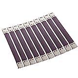 10x Shrapnel Geldbrse Making Supplies Metallrahmen Kiss Verschluss - Silber, 12x1.4 cm
