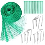 Vogelschutznetz 4 x 10 m Grünes Vogelnetz Teichnetz Baumnetz für Pflanzenschutz Gartennetz...