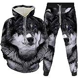 3D Gedruckt Herren Anzug Hoodie und Sweatpants 2 Teilig Frühling Herbst Sportswear Gr. XXX-Large,...