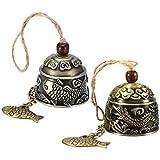 Guador Fengshui Glocke, 2 Stücke Weinlese Drache Muster Fengshui Windspiele Chinese Fengshui Bell...