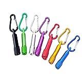 Schlüsselanhänger Taschenlampe(7 Stück),Portable Bunte Mini LED Taschenlampe Fackel Licht...