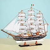 Segelboot-Modell Mittelmeer Holzverzierungen Massivholz-Crafts Ornamente Segel Crafts Schiff...