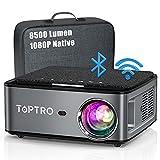 Beamer, 8500 Lumen Beamer Full HD, WiFi Bluetooth Beamer 4K Native 1080P LED Heimkino Video...