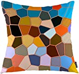 ZLXIONG Kissenbezüge Graffiti Elegant Gradient Polygon Honeycomb Modern Mosaik Zierkissenbezug 45 x...