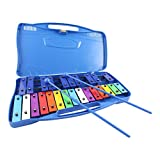 Acandoo Glockenspiel für Kinder 25 Töne chromatisch Xylophon blau