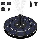 Solar Springbrunnen, 2,5W Solar-Wasserpumpe mit 4 Effekte Solar Teichpumpe Solar Schwimmender...