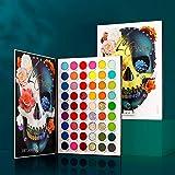 Make-Up Paletten Lidschatten Bunte 54 Farben, Afflano Matt Schimmer Glitter Eyeshadow Palette - Rot...