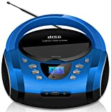 Tragbare Boombox | CD/CD-R | USB | FM Radio | AUX-In | Kopfhöreranschluss | CD-Player | Kinder...