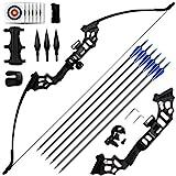 REAWOW 30/40LBS Recurve Bows Bogenschießset,Survival Longbow Right Hand mit verwendet für Recurve...