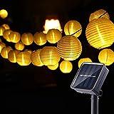Joomer Solar Lichterkette Lampion Außen, 6M 30er LED IP65 Wasserdicht Lampion/Laternen Solar...