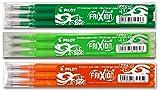 Pilot FriXion Ball Tintenroller - 3 Ersatzminensets zu je 3 Stk. in den Farben hellgrün, braun,...