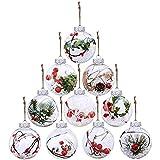 Transparente Kugeln für Weihnachtsbaum, zum Aufhängen, Ornamente, befüllbare Kunststoff-Kugeln...