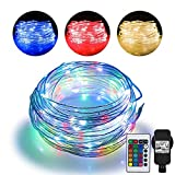 20m LED Schlauch Lichterkette Außen, Lichtschlauch mit 200 LED, 16 Farben 4 Modi Wasserdicht...