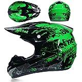 EA-SDN Amacigana® Motocross Helm, Kind Off Road Helm mit Handschuhe Maske Brille, Unisex...