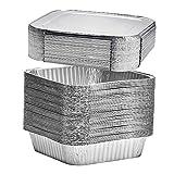 Einweg-Backformen aus Aluminiumfolie, ideal zum Kochen, Backen von Kuchen, Braten, selbstgemachtes...
