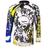 Broken Head MX Jersey Street Rebel Blau-Gelb - Langarm Funktions-Shirt Für Moto-Cross, BMX,...