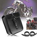 1 x Motorrad kleine Seite Satteltasche PU Leder Wasserdicht Motorrad Tankrucksack Seitengepäck...