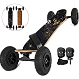 FlowerW Mountainboard 39'All Terrain Skateboard Longboard Off Road Skateboard mit Bindung für...