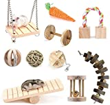 EPRHAY Hamster-Kauspielzeug, 10 Stück, kleine Haustiere, Zahnpflege, Molar Spielzeug für Hamster,...