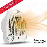 FC-Winter Tragbare elektrische Raumheizung, 2000W Raumwärmer Ventilator mit Schnellheizung, Safe &...