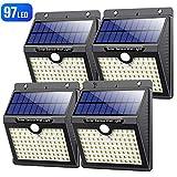 Solarlampen fr Auen mit Bewegungsmelder,Hohe Qualitt 97LED-1000LumenVOOE Solarleuchte Aussen 2200mAh...