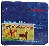 Stockmar FBA_31000 Stockmar Wachsmalstifte (8 Stifte, wasserfest, papergewickelt, aus Bienenwachs,...